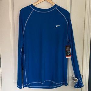 NWT Speedo long sleeve swim tee L, UV protection